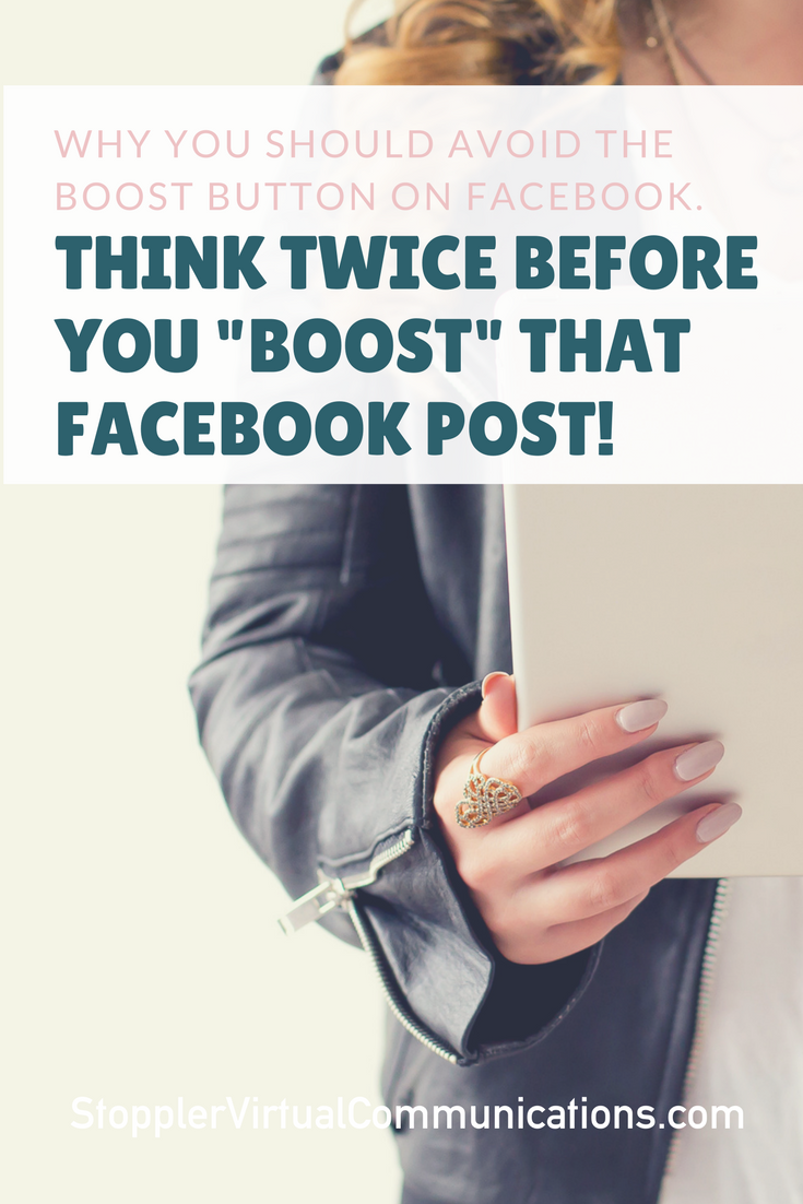 Boosting a Facebook Post